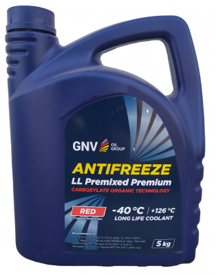 GNV Antifreeze LL Concentrate Premium - Антифриз RED G12+